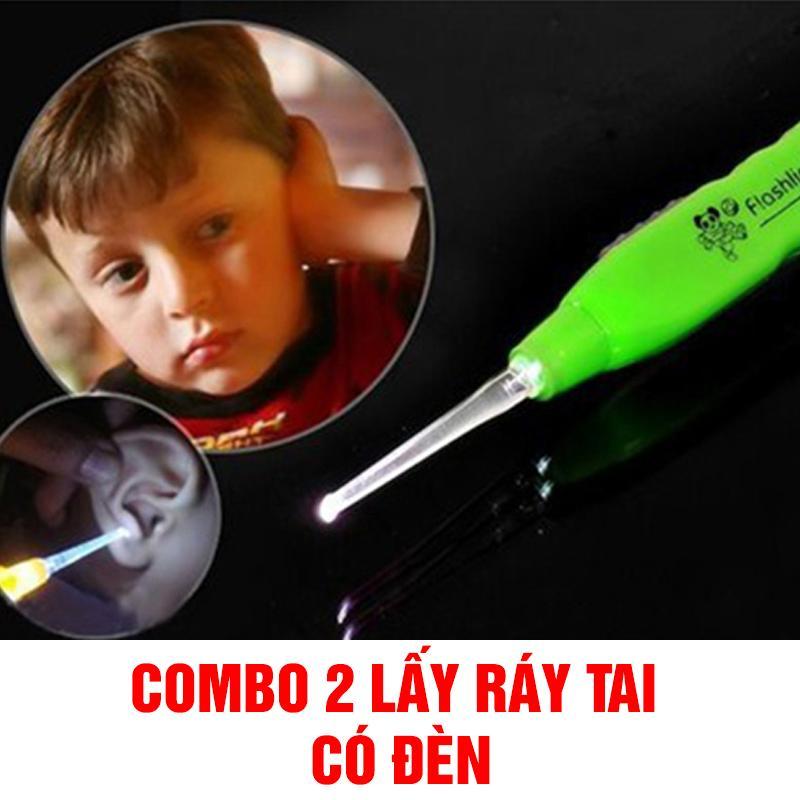 Combo 2 dụng cụ lấy ráy tai đèn