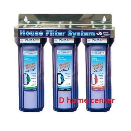 Bộ lọc nước sinh hoạt 3 cấp lọc 10 inch (xanh trong) - bộ đầy đủ