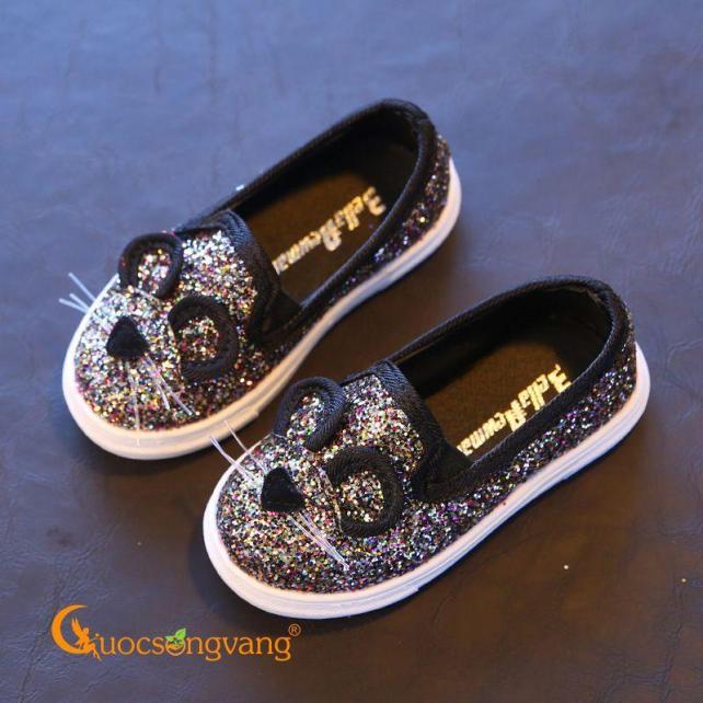 Giày dép bé gái giày bé gái đẹp đính kim sa hình chuột GLG033 giá rẻ