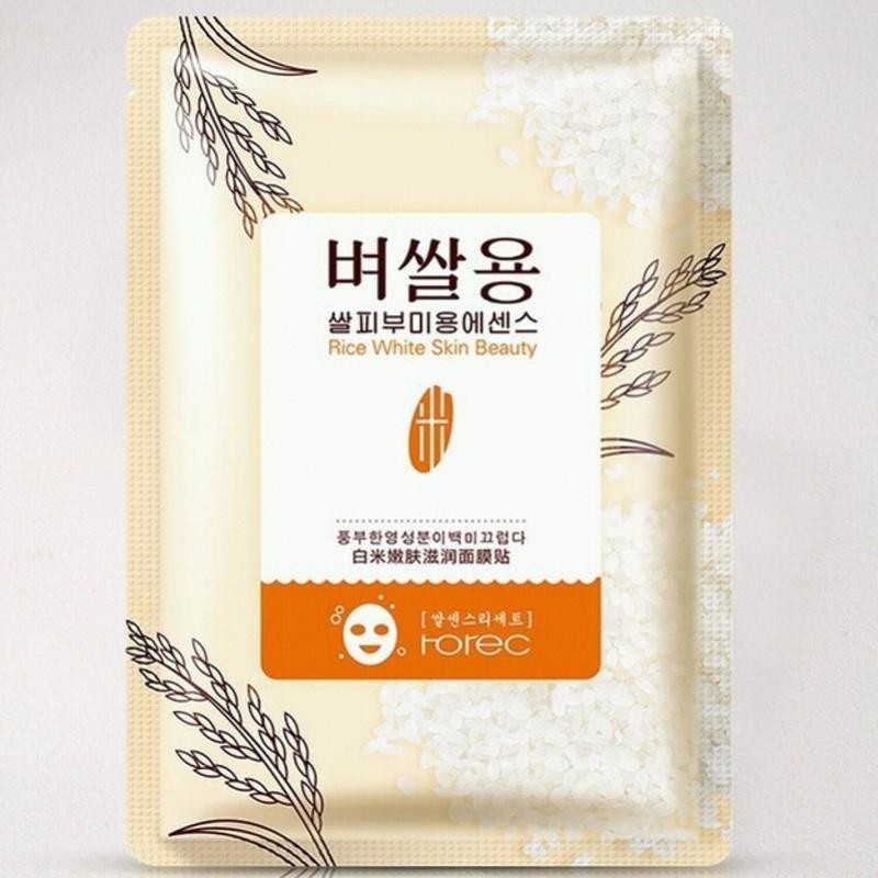Bộ 10 mặt nạ Cám gạo Rorec White Rice Mask 30g nhập khẩu