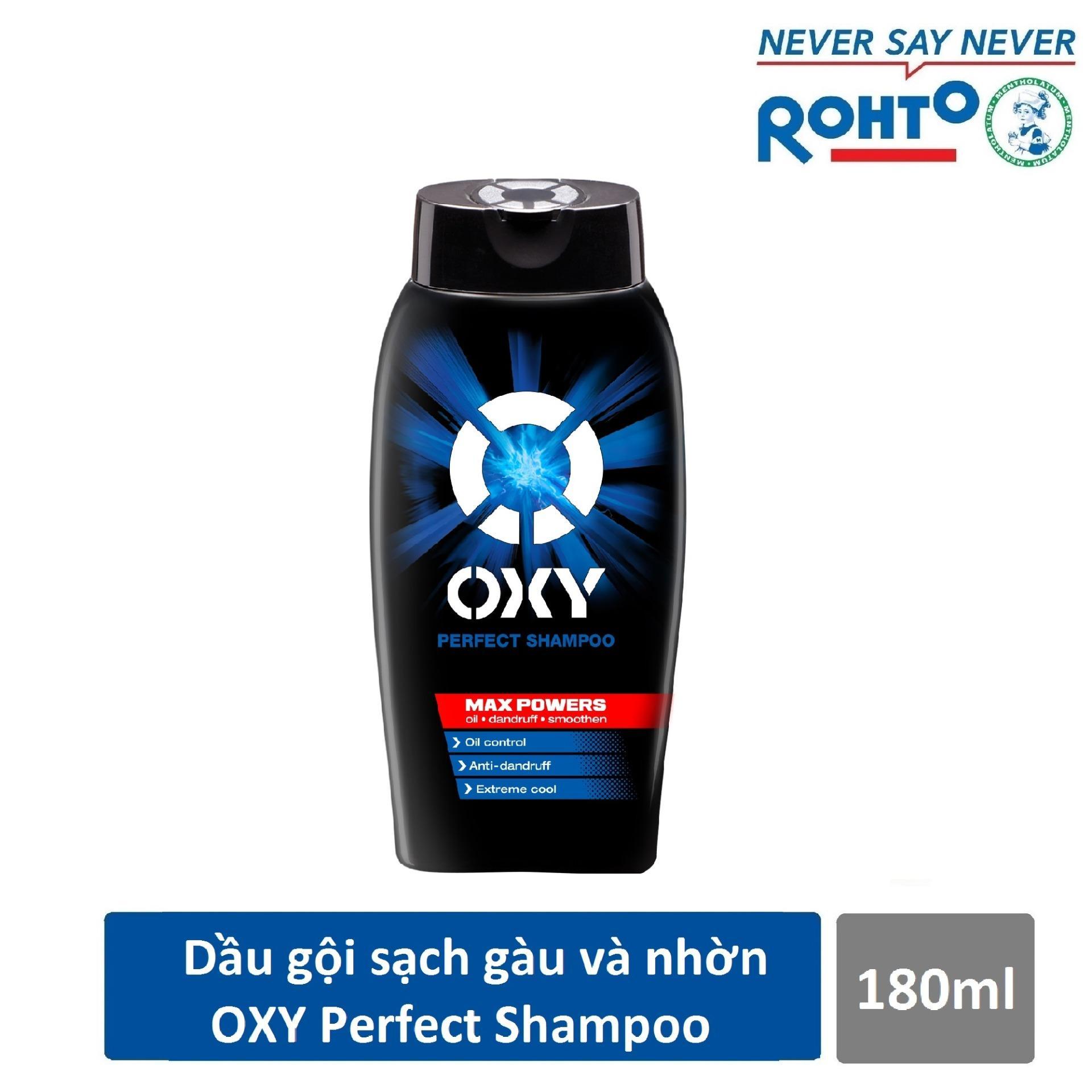 Dầu gội đánh bật gàu và nhờn cho nam Oxy Perfect Shampoo 180ml nhập khẩu