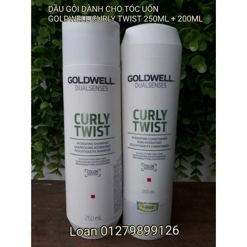 CẶP DẦU GỘI XẢ DƯỠNG XOĂN CHO TÓC UỐN GOLDWELL CURLY TWIST nhập khẩu