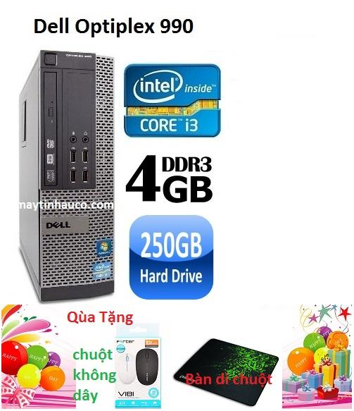 Đồng Bộ Dell Optiplex 990 ( Core i3 2100 / 4G / 250G )- Tặng Chuột không dây chính hãng , bàn di chuột , Bảo hành 24 tháng