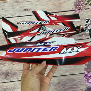 [ĐẸP MÊ LI] Trọn bộ tem tân trang xe mới Jupiter MX đỏ trắng đẹp vô cùng OX40-NL thumbnail