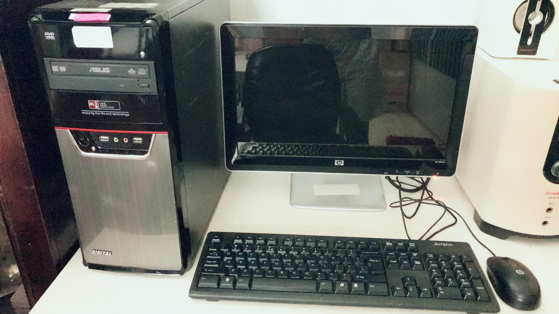 Hình ảnh Bộ máy core I5-2320, mainboard P8H67-V full cổng, Ram 4G tãn nhiệt thép, HDD 500G, DVDRW, power 600W, màn hình 19', chuột, phím