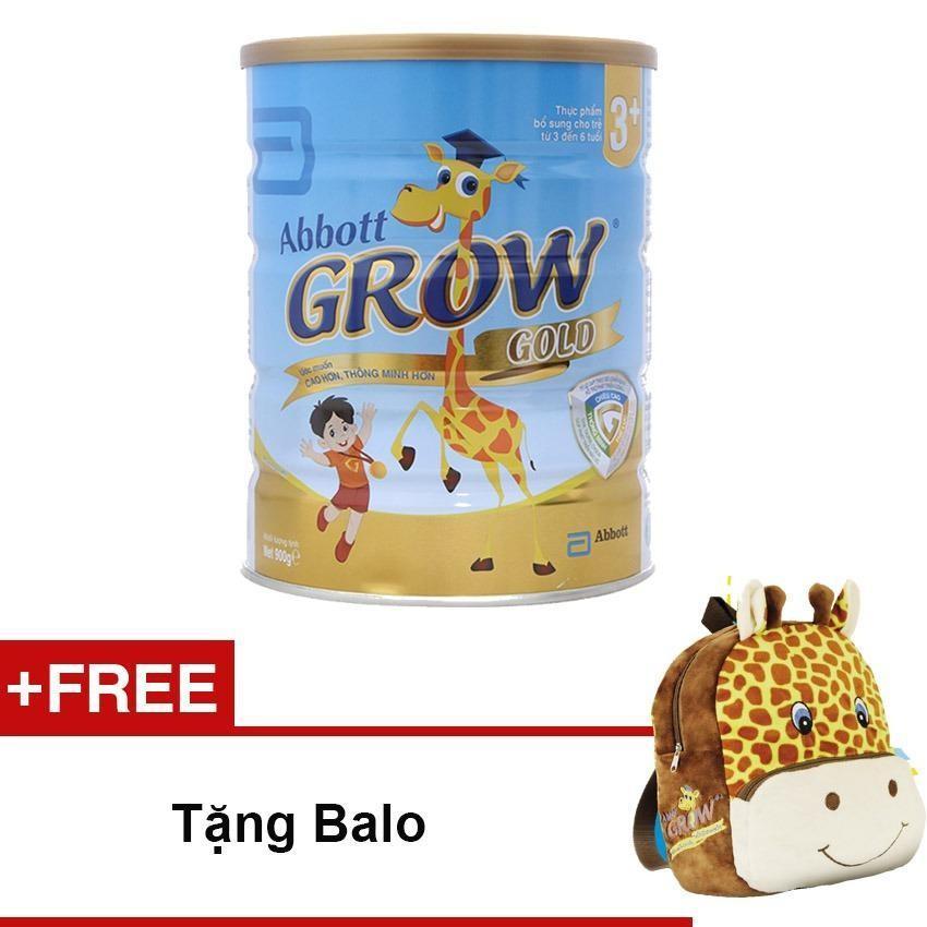 Sữa bột Abbott Grow Gold 3+ hương Vani 900g + Tặng Balo