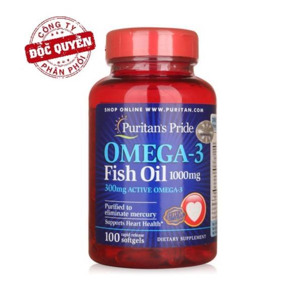 Viên uống dầu cá (HSD: 11/2021) Puritans Pride Omega-3 Fish Oil 1000mg 100 viên