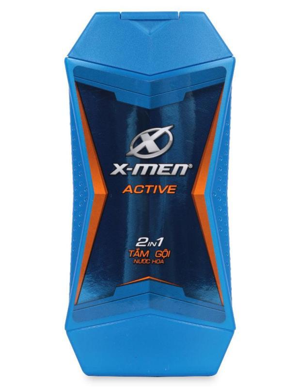 Tắm Gội Nước Hoa X-Men 2 Trong 1 Active - Chai 180 G