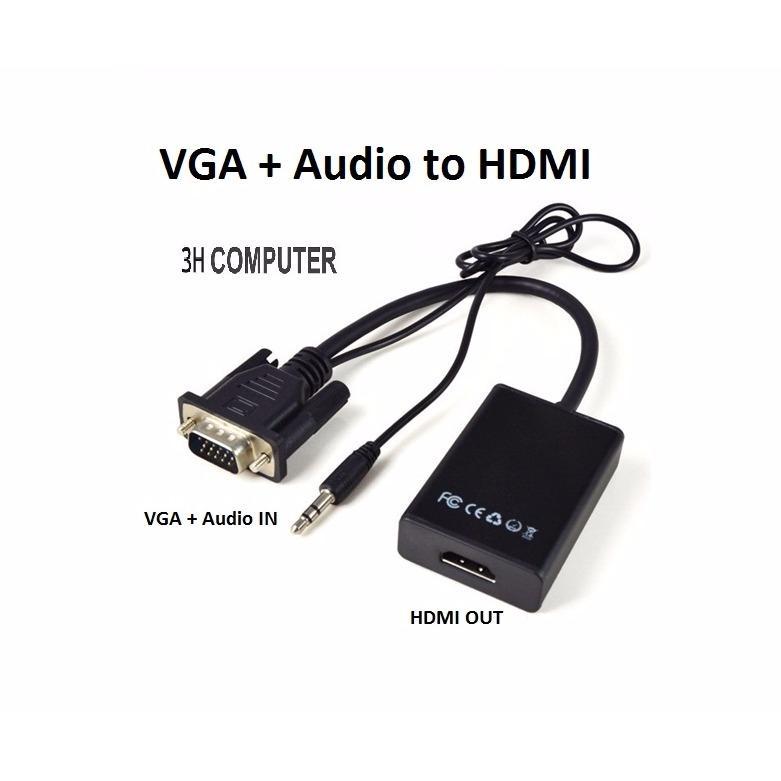 Hình ảnh Cáp chuyển đổi VGA sang HDMI Có Audio - VGA TO HDMI