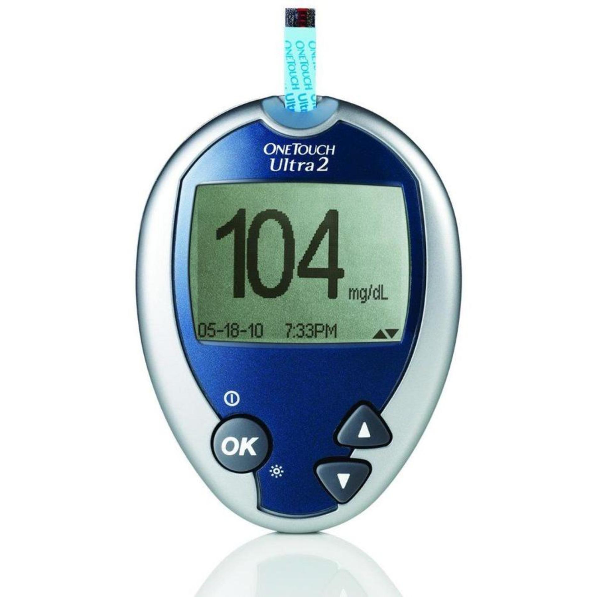 Máy đo đường huyết One Touch Ultra 2 + kèm 10 que thử đường huyết  và 25 kim chích máu - Hàng chuẩn đo chính xác bán chạy