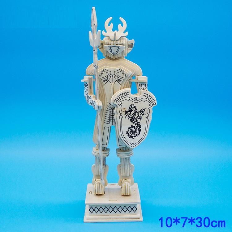 Hình ảnh Đồ chơi lắp ráp gỗ 3D Mô hình Kỵ sỹ 3