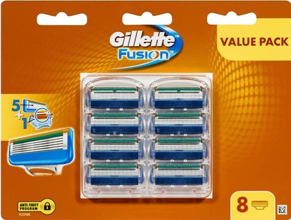 Vỉ 8 lưỡi dao cạo râu Gillette Fusion 5 + 1 giá rẻ