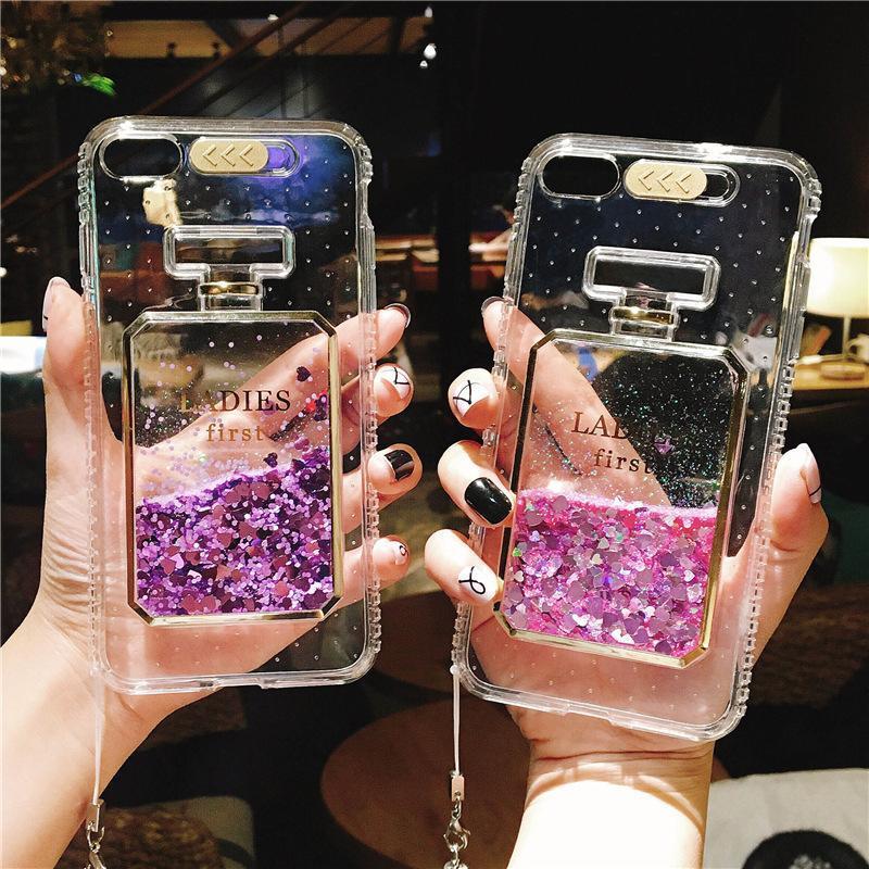 Giá Ốp Lưng Dẻo Nhũ Chảy Nước Hoa - Iphone 6, 6plus, 7, 7plus, 8, 8plus, X, Xs