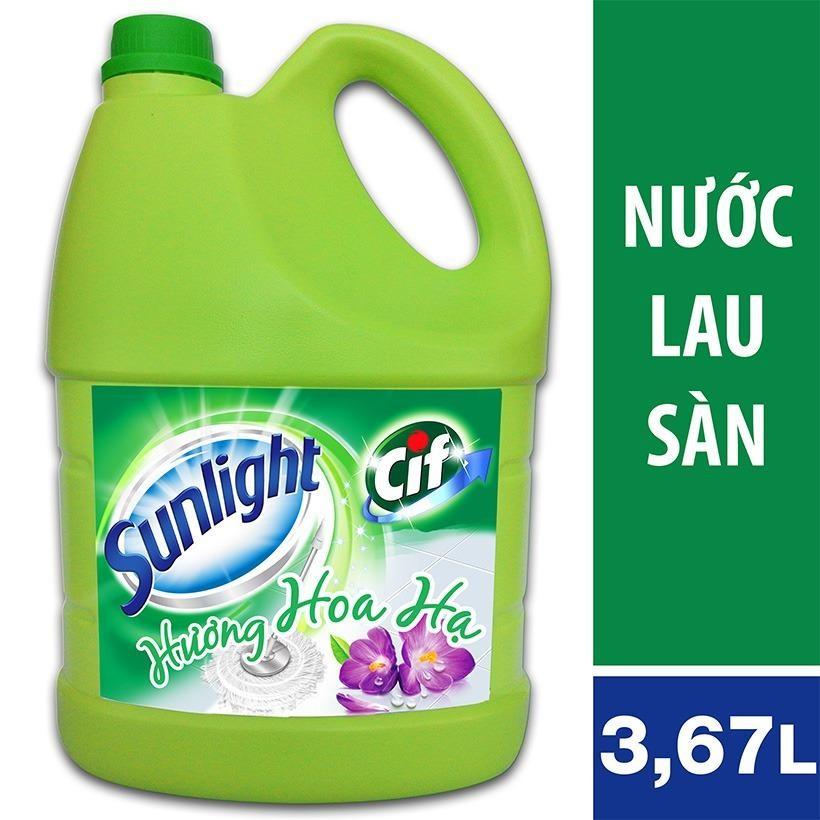 Hình ảnh Nước lau sàn Sunlight Cif hương hoa Hạ can 3,8kg