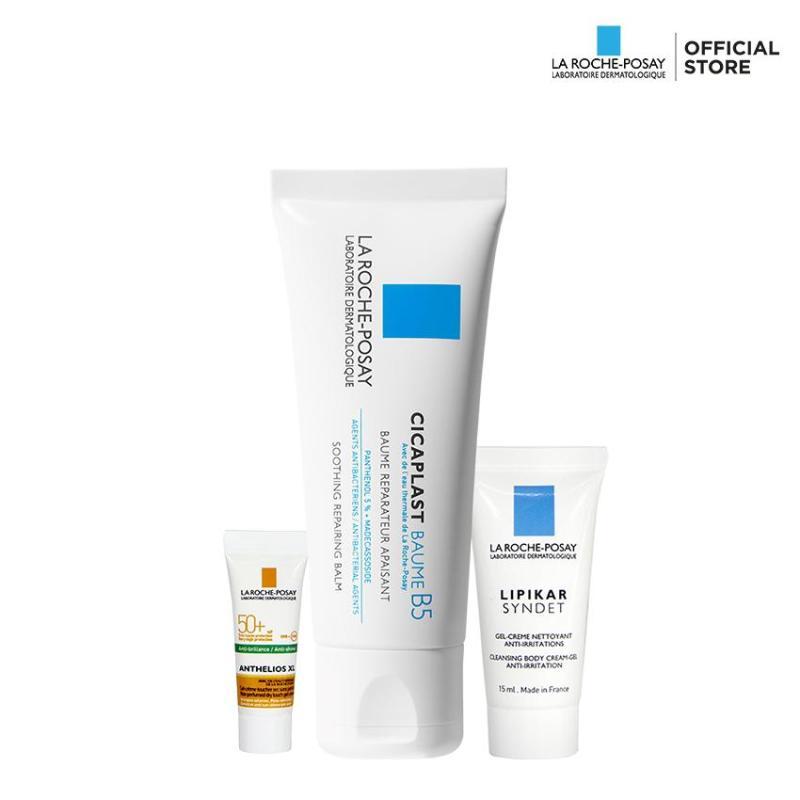 Bộ sản phẩm làm dịu, giảm kích ứng và phục hồi dành cho da nhạy cảm và da em bé La Roche Posay Cicaplast Baume B5 40Ml
