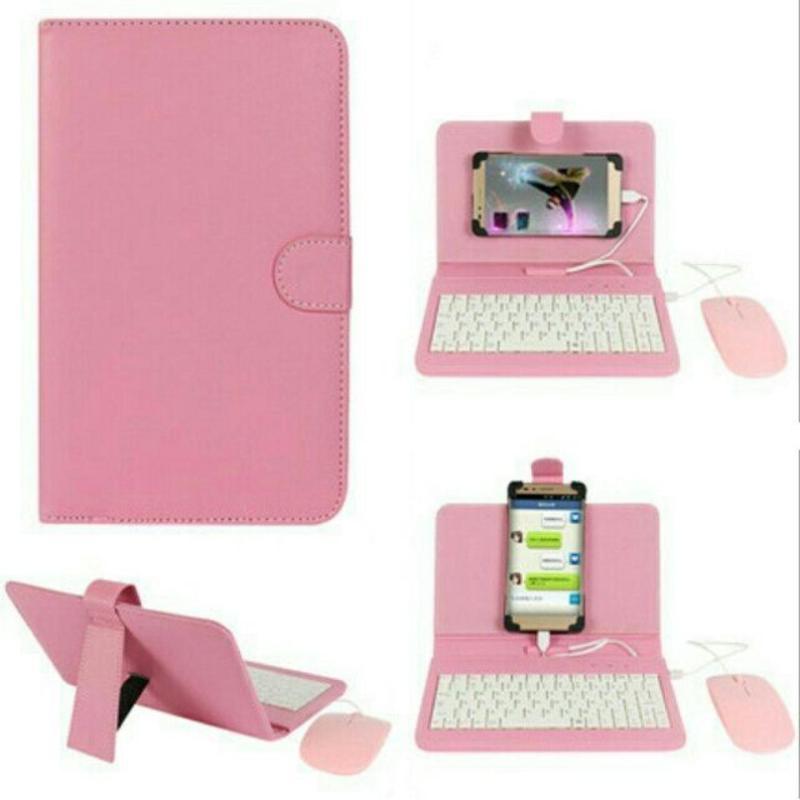 Giá Combo bao da bàn phím kèm chuột + lót chuột cho điện thoại, máy tính bảng từ 4.5-8 inch
