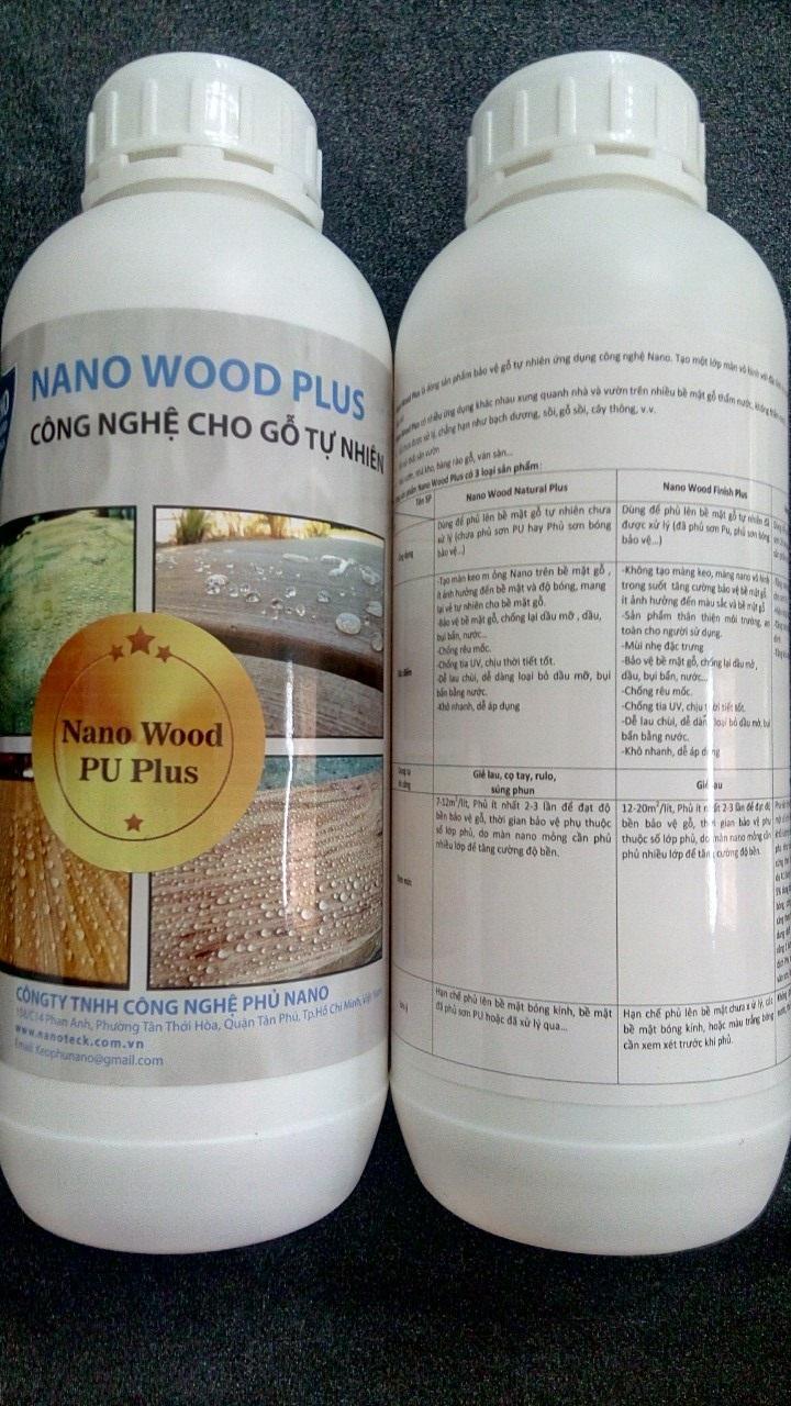 Hình ảnh Nano Wood PU Plus Dung dịch nano pha vào sơn PU bóng Mờ 2K