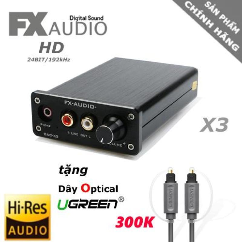 DAC giải mã FX-AUdio X3 192Khz/24bit - Hi-res Audio - Tặng dây Optical UGREEN 1.5M