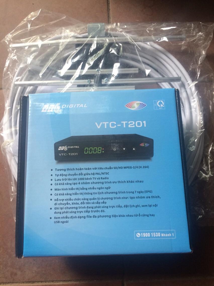 Combo Vtc t 201 + anten thông minh 15 m dây