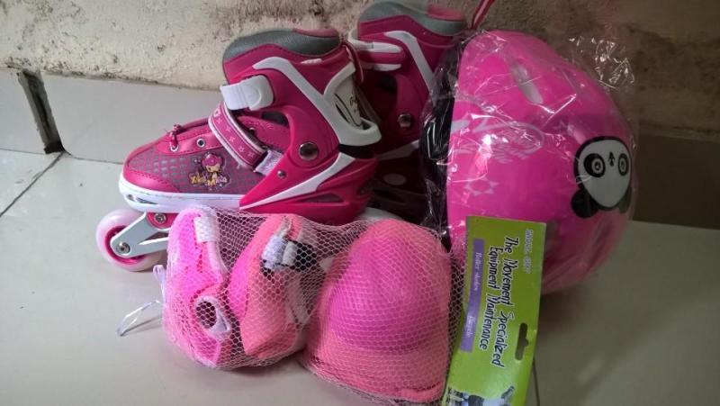 Phân phối Combo Giày trượt Patin có bánh phát sáng kèm đồ bảo hộ và phụ kiện