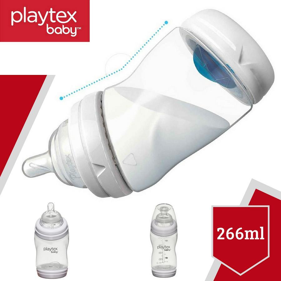 Hình ảnh Bình sữa Playtex cổ cong VentAire chống sặc 266ml (9oz) không chứa BPA - Xách tay Mỹ