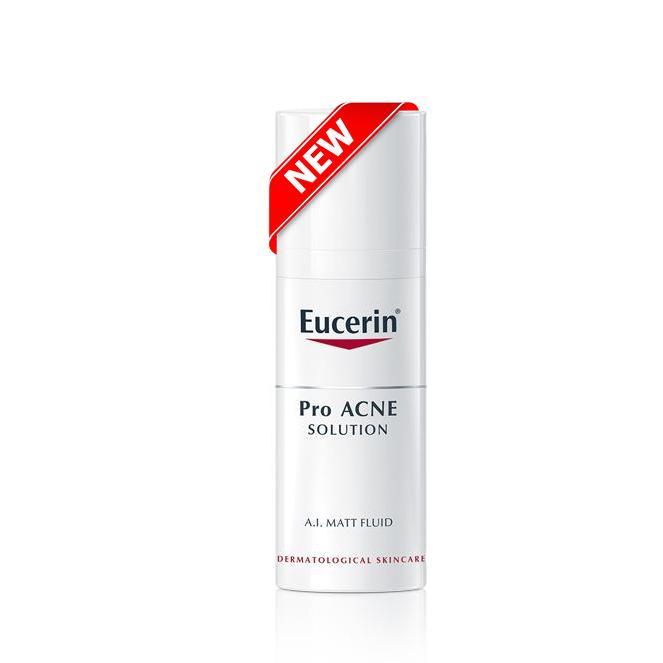 Eucerin Kem Dưỡng Kiểm Soát Nhờn Giảm Mụn  Eucerin ProAcne A.I Matt Fluid 50ml nhập khẩu