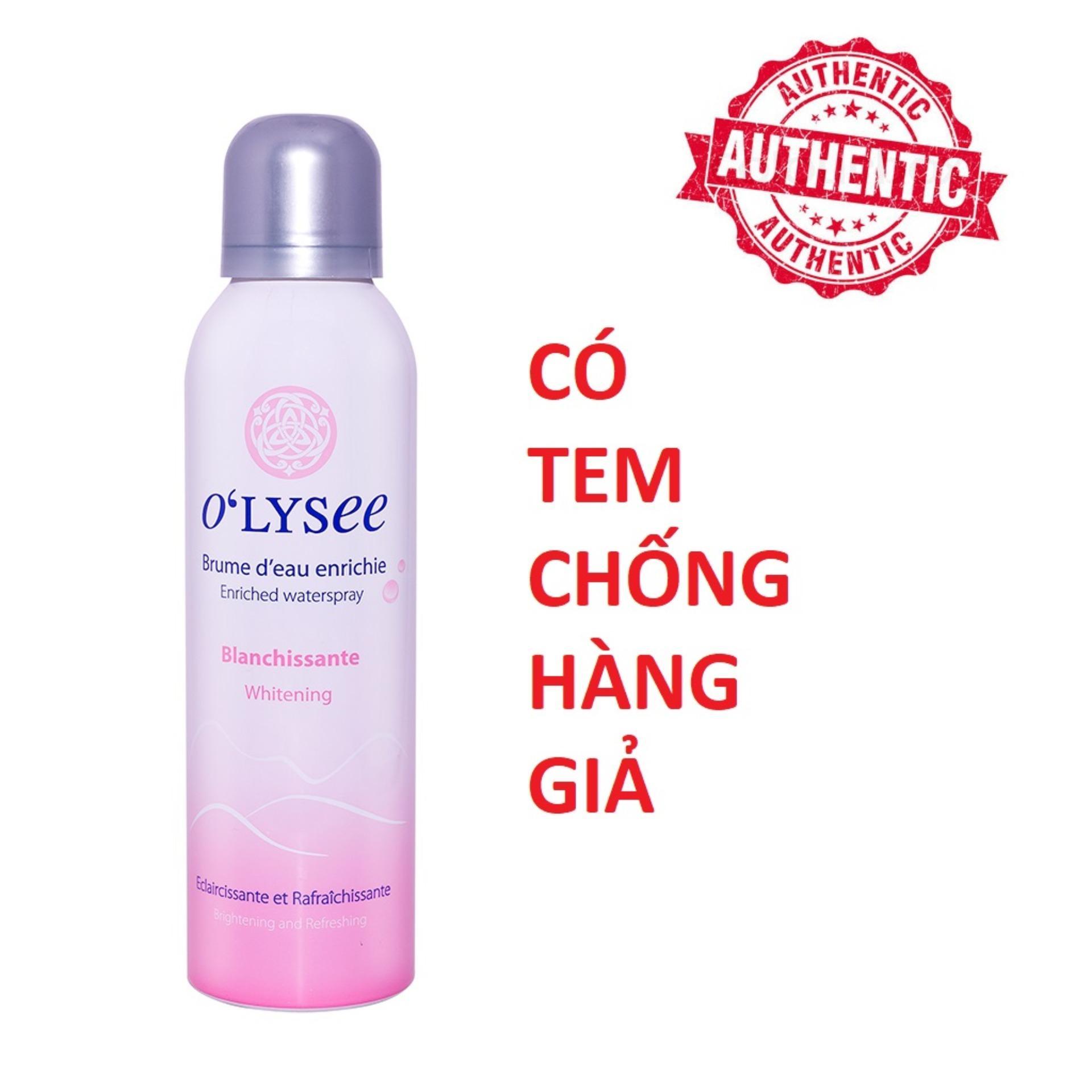Xịt Khoáng Dưỡng Trắng Da Olysee Whitening WaterSpray - 150ml HÀNG CHÍNH HÃNG