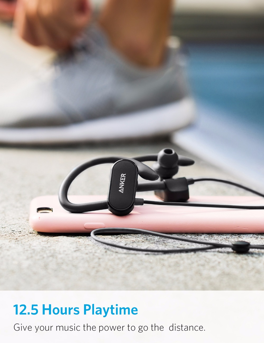 Image result for Tai Nghe Bluetooth Anker SoundBuds Curve - A3263