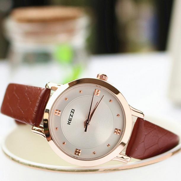 Đồng hồ nữ dây da KEZZI - Mã KZ003