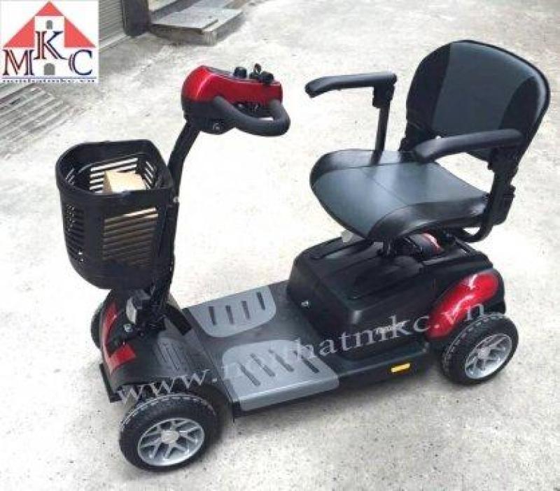 Xe lăn điện 4 bánh Omega dành cho người già, người chân yếu và người khuyết tật nhập khẩu