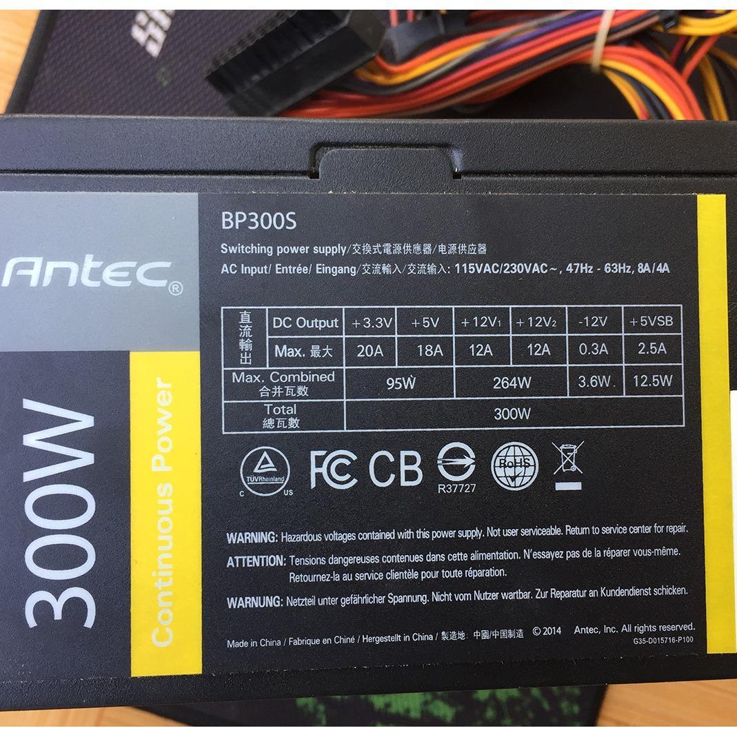 Bộ nguồn máy tính  Antec BP300S - 300w công suất thật