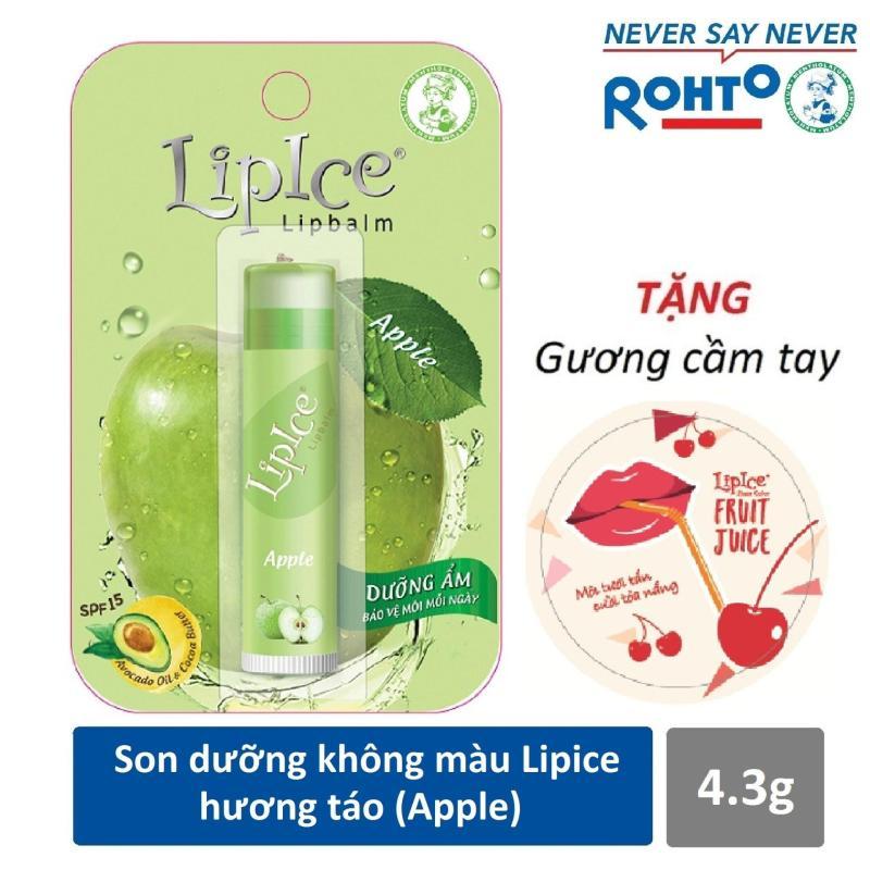 Son dưỡng không màu LipIce hương Táo 4.3g + Tặng gương cầm tay xinh xắn nhập khẩu