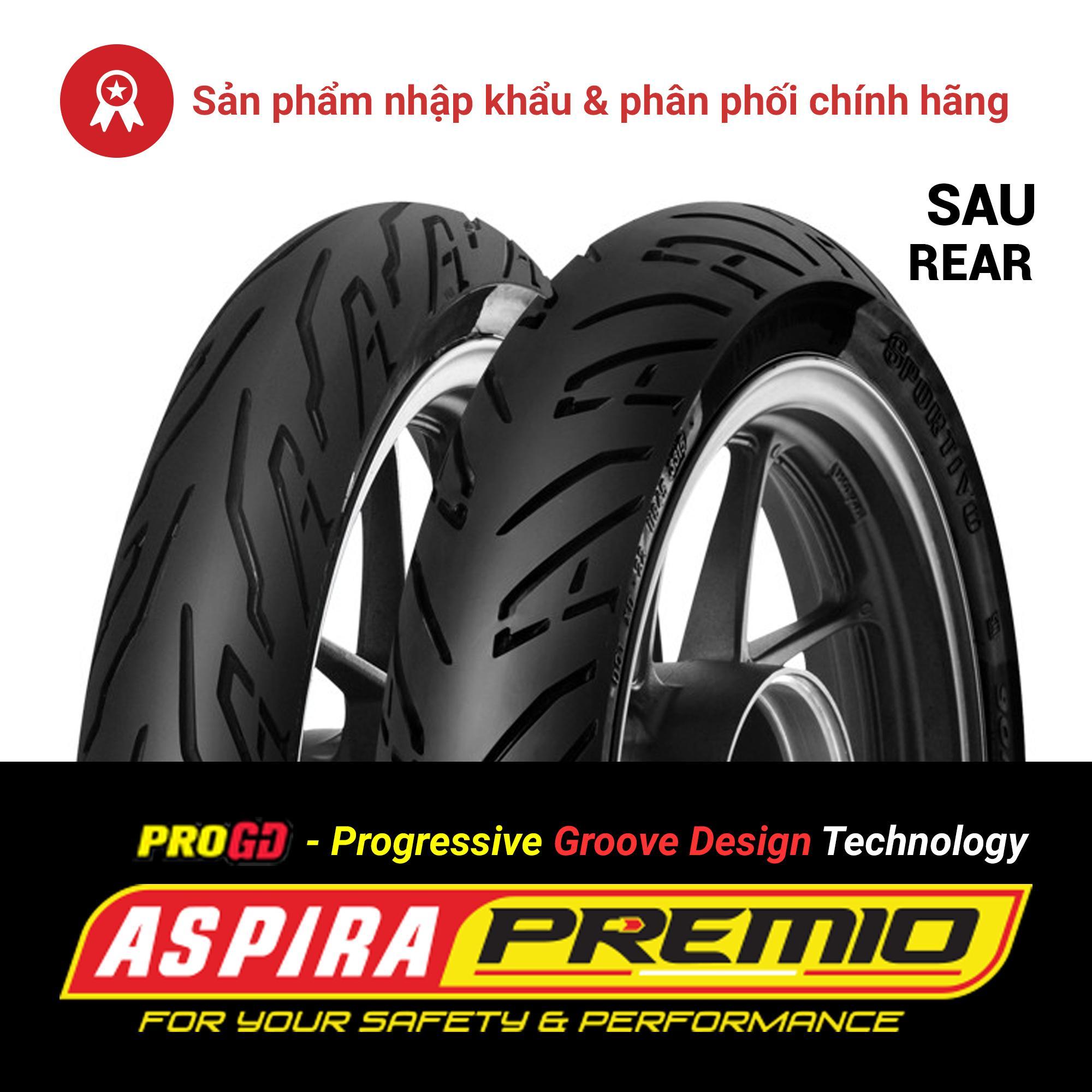 Thay lốp (vỏ) sau 100/80-14 TL Aspira Premio Sportivo chính hãng cho xe tay ga Piaggio Liberty