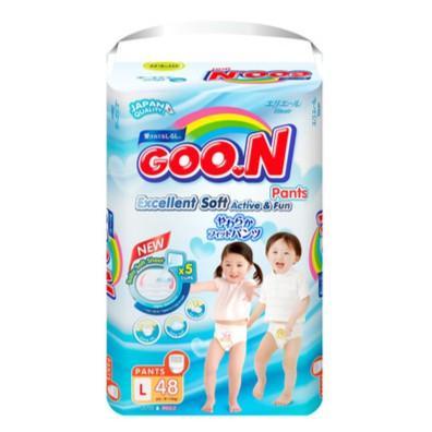 Offer Khuyến Mãi Tã Quần Goon Slim Size L48 9-14kg (cắt Tem)