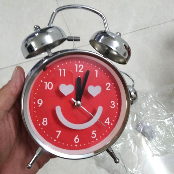 Đồng hồ báo thức lớn 2 chuông inox 16x11.5.5.5cm