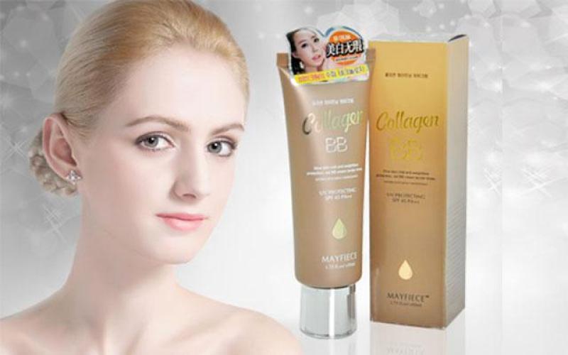 Kem nền Collagen che khuyết điểm và làm trắng da BB MayFiece