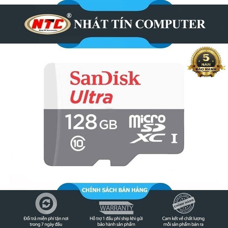 Thẻ Nhớ MicroSDXC SanDisk Ultra 128GB Class 10 80MB/s (Xám)