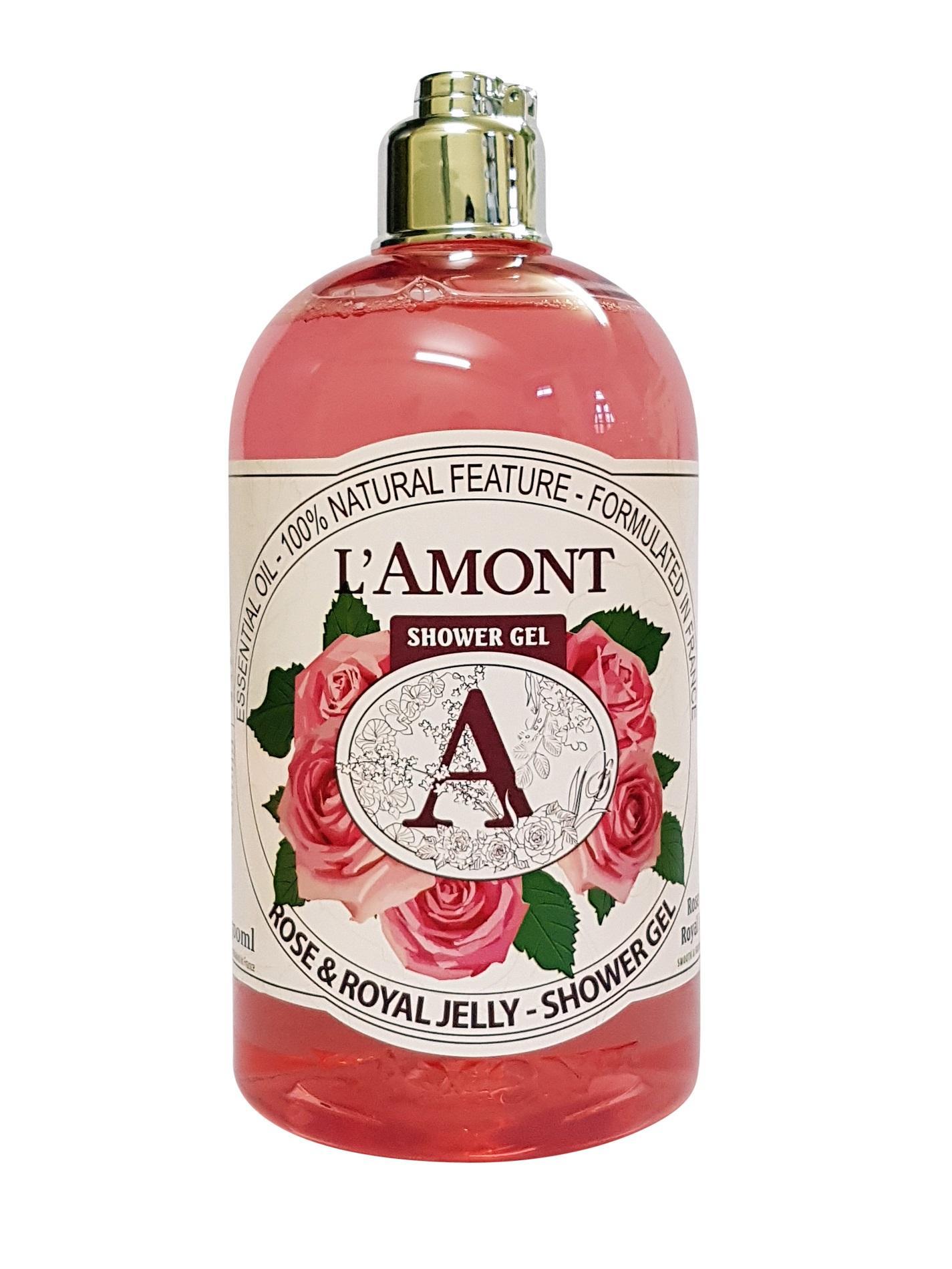Hình ảnh Sữa Tắm Lamont En Provence Rose & Royal Jelly Shower Gel Hương Hoa Hồng Chai 500ml