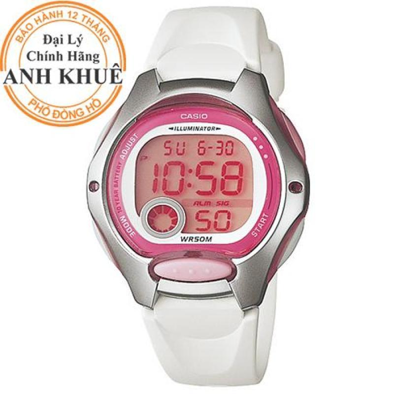 Đồng hồ nữ dây nhựa Casio Anh Khuê LW-200-7AVDF