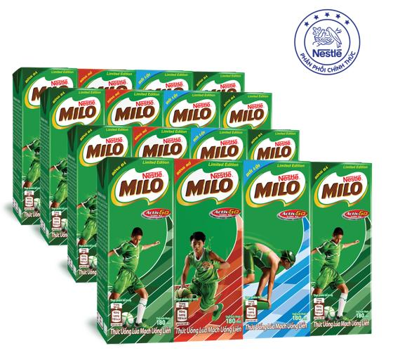 Hình ảnh Bộ 4 Lốc Nestlé MILO® Uống Liền (4 hộp x 180ml)