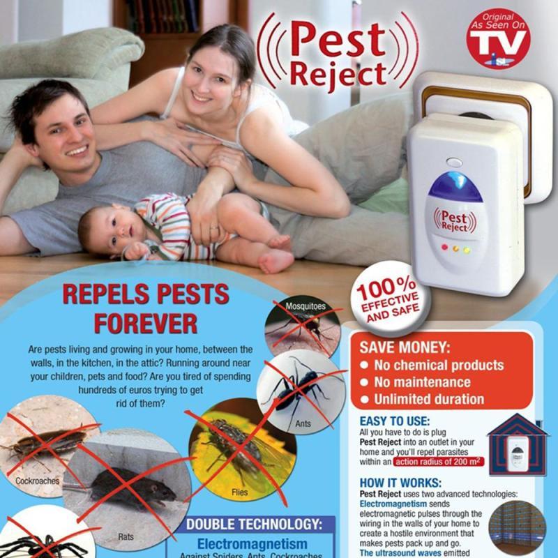Mua Bắt muỗi hiệu quả, Cách diệt côn trùng, Máy đuổi muỗi sharp, Thuốc diệt kiến gián - Máy đuổi côn trùng PESTREJET  Cao Cấp( Hàng loại 1) - Đuổi chuột, muỗi, gián và lũ côn trùng đáng ghét ra khỏi nhà bạn  - Mã BH 41