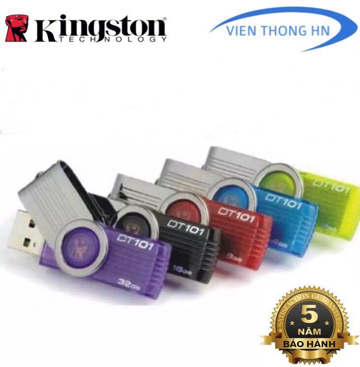 Hình ảnh USB 2.0 Kingston 4GB 8GB 16GB 32GB DT101 G2 - CÓ NTFS - CAM KẾT BH 5 NĂM 1 ĐỔI 1