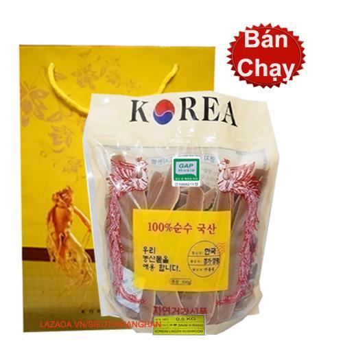 Nấm linh chi đỏ thái lát Hàn Quốc Cao Cấp 500g ( Nấm sạch) - TRỊ TIỂU ĐƯỜNG MỠ NHIỄM MÁU TIM MẠCH ÁP HUYẾT- ĐANG TRỢ GIÁ