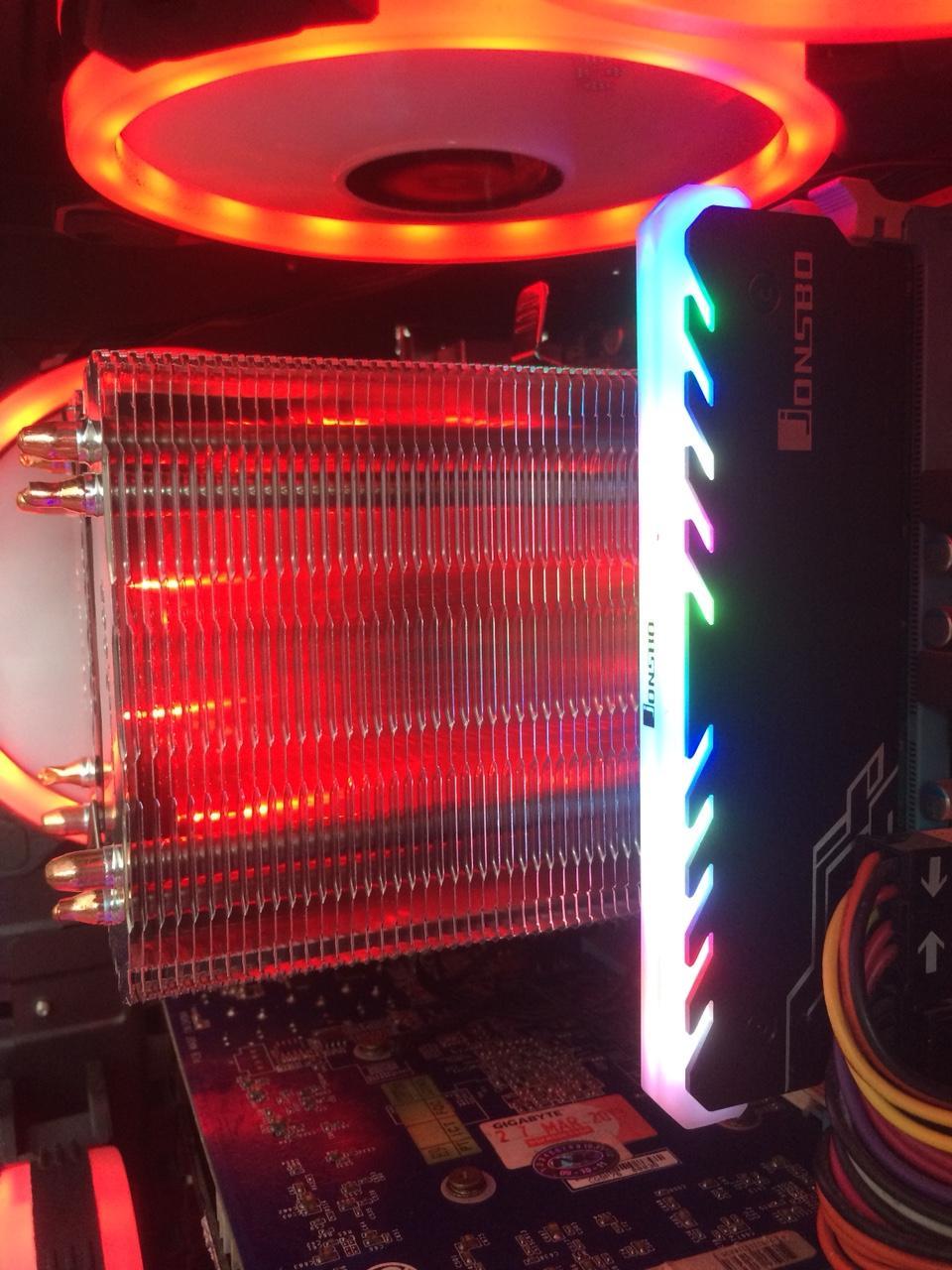 Hình ảnh tản nhiệt khí cpu 4 ống đồng led đỏ