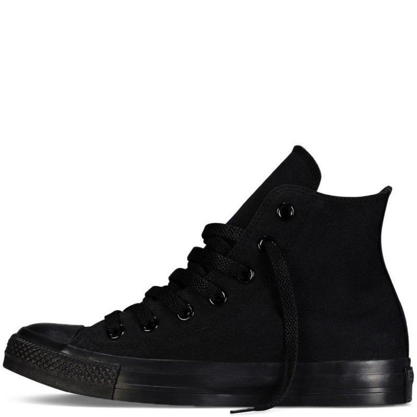 Giày Vải Sneaker CV Classic Cổ Cao Full Đen Nữ giá rẻ