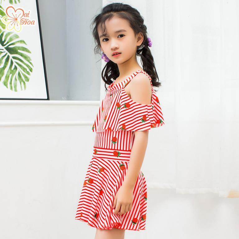 Giá bán Áo Tắm Bé Gái Sọc Xinh BB018 Mai Hoa