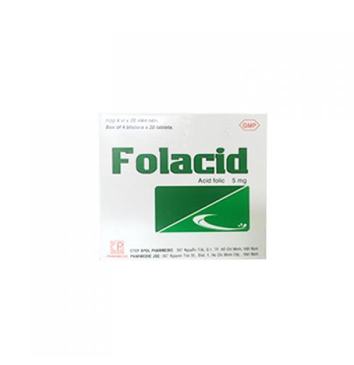 Viên uống bổ máu FOLACID (80 viên/ hộp ) nhập khẩu