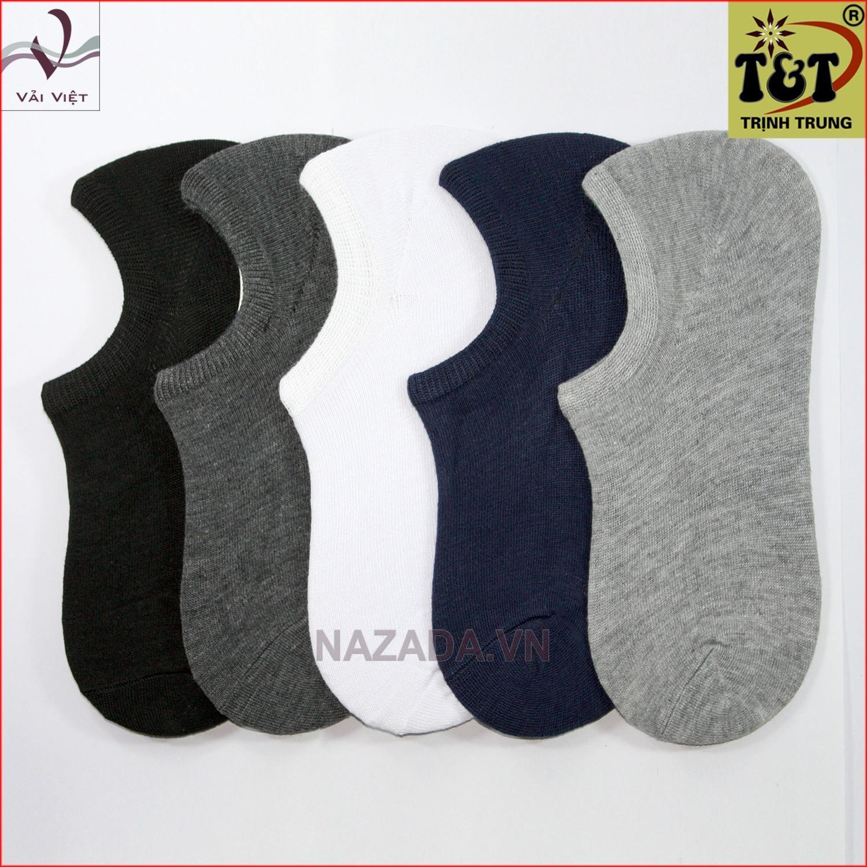 Bộ 5 đôi vớ lười trơn (Vải Việt Shop) - Hãng phân phối chính thức