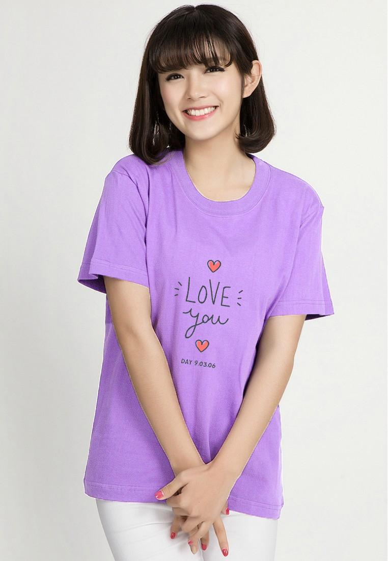 Hình ảnh Áo thun nữ in chữ love you vải dày mịn AoK1599