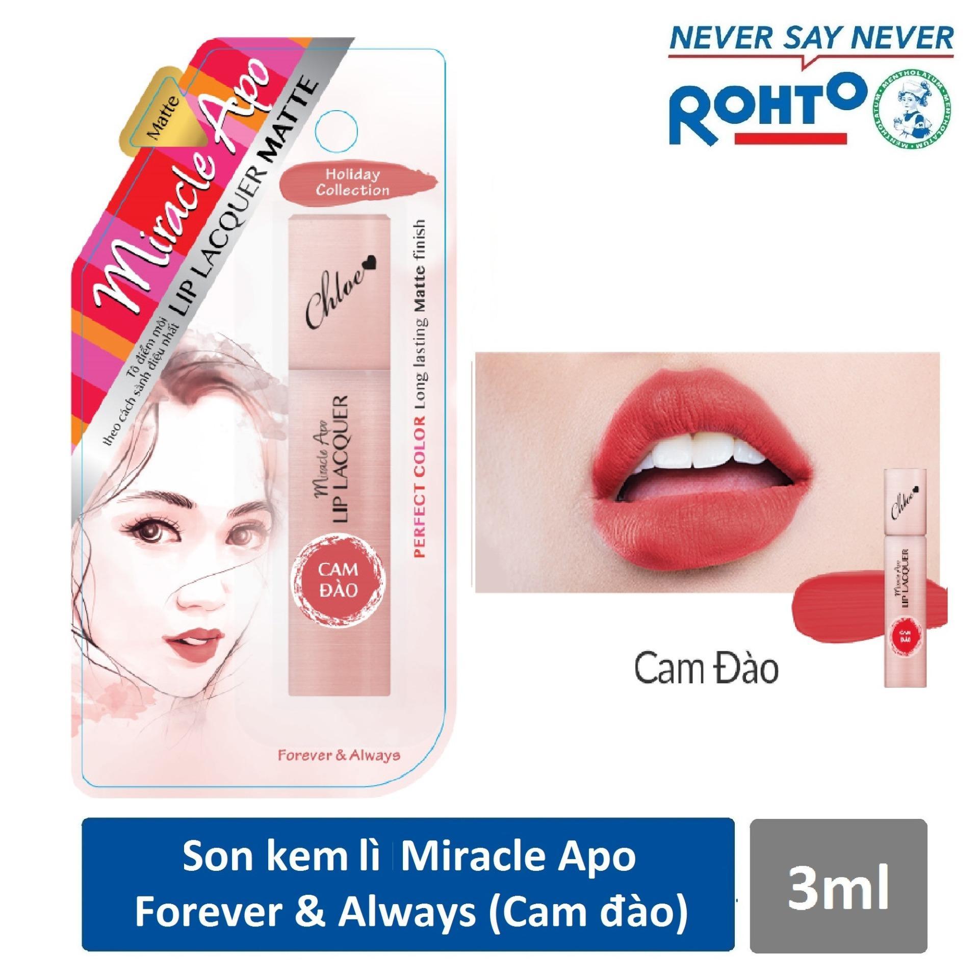 Hình ảnh Son kem lì Miracle Apo Lip Lacquer Matte Holiday Collection Forever & Always 3ml (Cam đào)